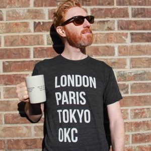 Stark and Basic - london paris tokyo okc Tee Heather Black