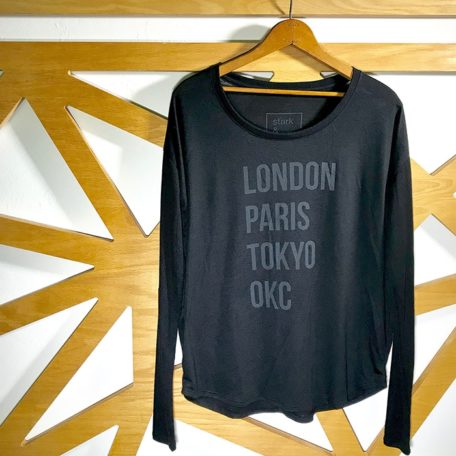 Stark and Basic London Paris Tokyo OKC oklahoma city shirt